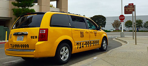 Taxi Cab for Emergency Ride Home at Irvine Train Station