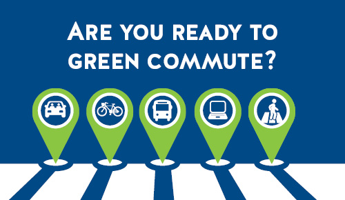 Try an alternative commute today and log your miles for the Green Commute Challenge!