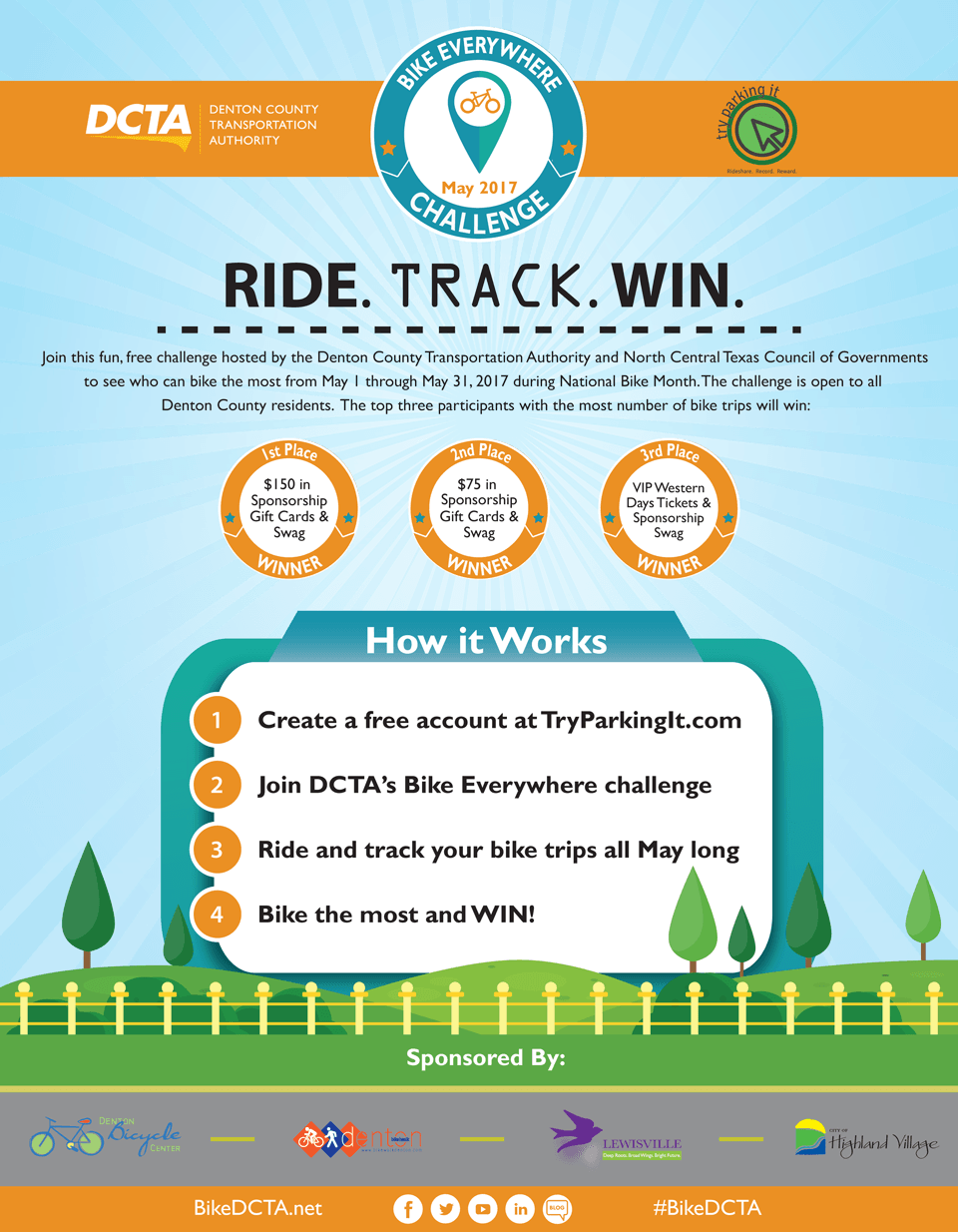 Welcome to the DCTA Bike Everywhere Challenge!