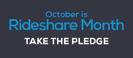 Take the Pledge for sustainable commuting during October's Rideshare Month Challenge
