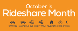 October is Rideshare month